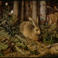 A hare in the forest. Hans Hoffman, ca. 1585